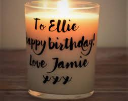 personalized birthday candles personalized candles etsy