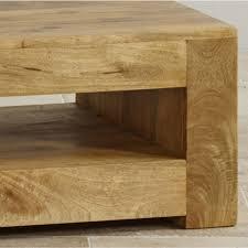 Light Oak Furniture Mantis Light Coffee Table In Solid Mango Oak Furniture Land