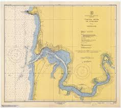 Oregon River Map by River Oregon Historical Map 1947