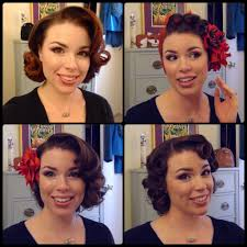 easy 50 u0027s pin curl styles for shoulder length hair youtube