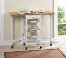 space saving kitchen islands bamboo kitchen trolley extended table ebay