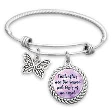 butterfly bracelet charms images Butterflies are the heaven sent kisses of an angel charm bracelet jpg