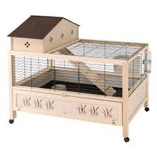 gabbie per gabbie per conigli ferplast arena 100 plus legno conigliera