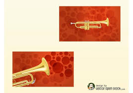 trumpet business cards free vector stock graphics