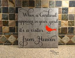 Personalized In Memory Of Gifts When A Cardinal Appears In Your Yard Its A Visitor From Heaven