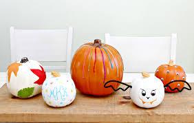 Decorative Halloween Pumpkins No Carve Pumpkin Decorating Ideas Mom 4 Real