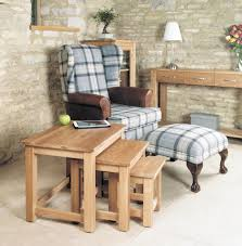 classic oak nest of 3 tables hampshire furniture