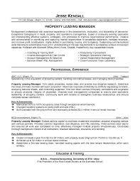 Sample Real Estate Resume Property Management Resume Property Management Resume Samples
