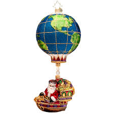christopher radko ornaments 2015 radko santa ornament world traveler
