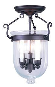 Jefferson 9 Light Chandelier Traditional - livex lighting 5061 91 jefferson 3 light brushed nickel bell jar