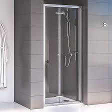 Shower Door Aqualux Edge 6 Bi Fold Shower Door Polished Silver 760 X 1900mm