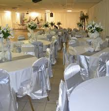wedding linen stunning silver and white wedding reception silver amp white