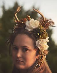 woodland fairy halloween costume woodland fantasy deer antler headpiece fairy wear 159 00 via