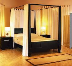 Bed Frame Canopy Brown Wooden King Size Canopy Bed Frame With A Style Bedroom