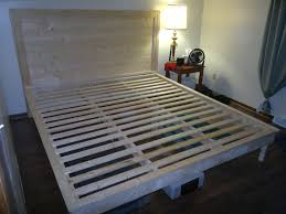 Making A Wood Platform Bed by Ana White Hailey Platform Bed And Headboard Diy Projects