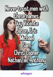 Michael Sam Memes - trust men with these names guy vicente jason eric michael sam