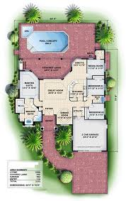 covered lanai house plan chp 54868 at coolhouseplans com