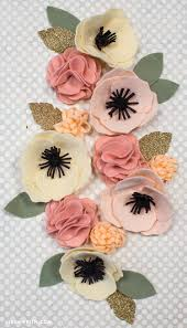 felt flowers diy felt flower poms lia griffith