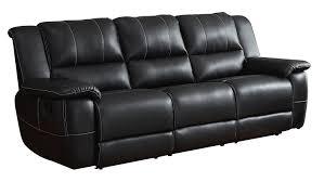 amazon com homelegance bonded leather black double reclining sofa