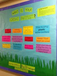 environmental bulletin board ways to reduce your carbon footprint