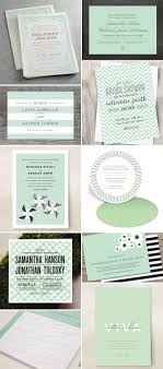 mint wedding invitations wedding invitation color trend mint green invitation crush