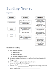 investigating chemical reactions worksheet by