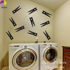 Laundry Room Pictures To Hang - aliexpress com buy clothespins wall sticker baby nursery kids