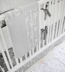 gray arrow crib bedding arrow baby bedding neutral baby bedding
