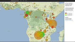 Population Map Of Africa by Elephants In Peril The African Wildlife Trust