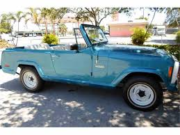 turquoise jeep 1973 jeep jeepster commando for sale classiccars com cc 758417