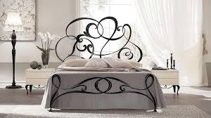 iron handmade double bed in modern style idfdesign