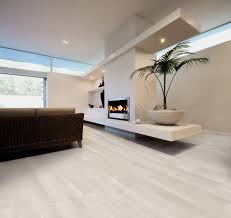 ceramic wood tile bathroom white bathtub built in storage shelves