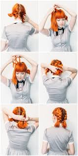 step by step braid short hair double dutch pigtails for short hair a beautiful mess