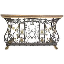 Iron Sofa Table by Ornate Iron Brass And Bronze Console Table For Sale At 1stdibs