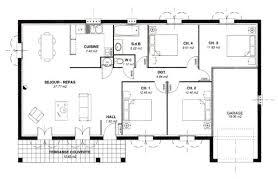 plan maison 100m2 3 chambres plan de maison 100m2 plein pied 3 chambres gratuit n 52 univia les