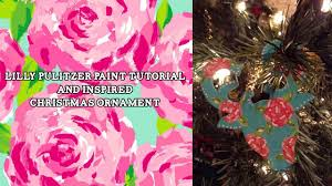 lilly pulitzer inspired flower paint tutorial on a