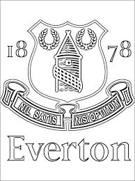 everton f c coloring page coloring pages