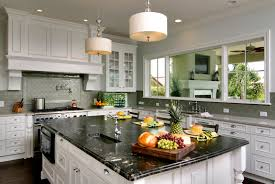 Contrasting Kitchen Cabinets Energy Efficient Lansing Island Home Contrasting Kitchen In Green