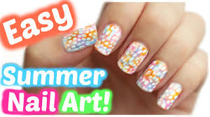 summer nail art no tools needed jennyclairefox youtube