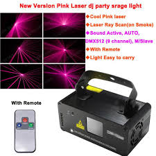 new remote sound pink 450mw laser stage lighting dmx scanner effect light smoke dj disco party lights system show d72 free ship lighting companies