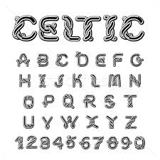 celtic font norse ornament abc traditional ancient ma