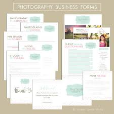 photography business form templates templates creative market