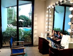 makeup artist station makeup artist station with a view of the pool picture