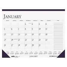 cool desk pad calendars house of doolittle recycled two color monthly desk pad calendar