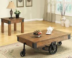 Rustic Coffee Table On Wheels Rustic Coffee Table Furniture Stores Chicago