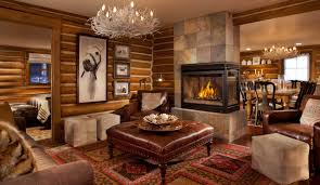 Log Home Decor Ideas Small Unvarnished Log Cabin Design Inspiration Brick Tiles Designs
