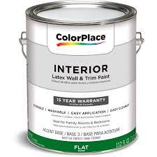 Interior Flat Paint Color Place Interior Flat Accent Base 1 Gallon Walmart Com