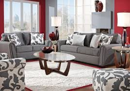 i love this gray couch with the white and gray accent chair this