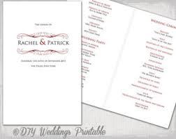 wedding program template antique gold diy printable order of