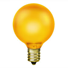 15w yellow light bulb g16 5 candelabra
